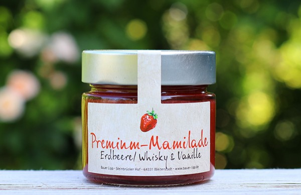 Premium Mamilade, Erdbeere/ Whisky & Vanille 210 g
