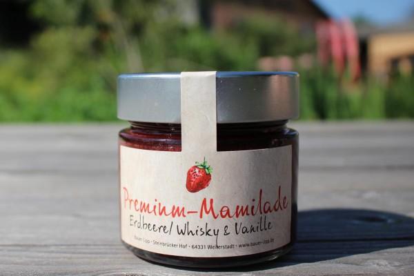 Premium Mamilade, Erdbeere/ Whisky & Vanille 210g