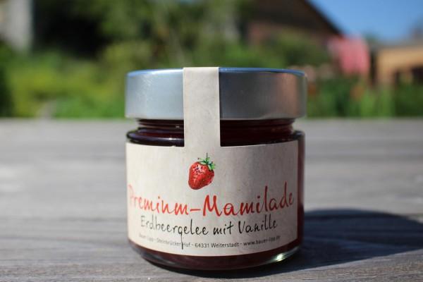Premium Mamilade, Erdbeergelee mit Vanille 210 g