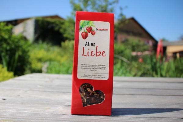 Alles Liebe, Erdbeer- Früchtetee Mischung 75g