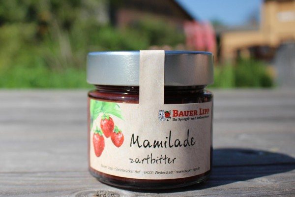 Mamilade, Erdbeere mit Zartbitterschokolade 210g