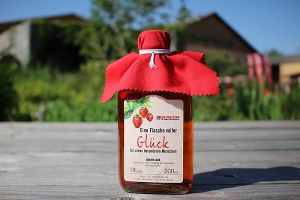 Erdbeer Likör, Eine Flasche voller Glück 200 ml
