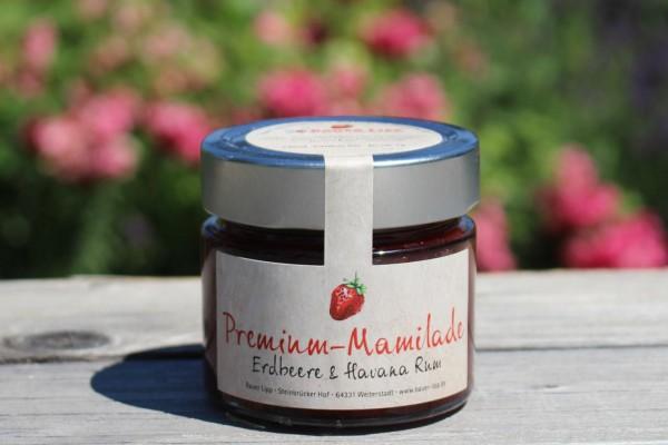 Premium Mamilade, Erdbeere & Havana Rum 210 g