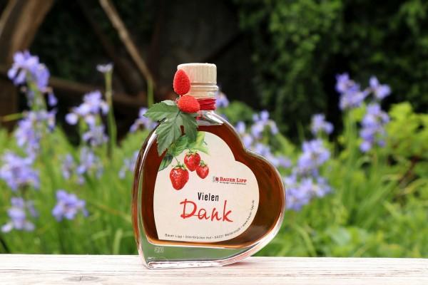 Erdbeer Likör Herz, Vielen Dank 200 ml