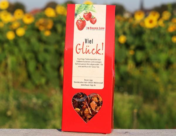 Viel Glück, Erdbeer- Früchtetee Mischung 75 g