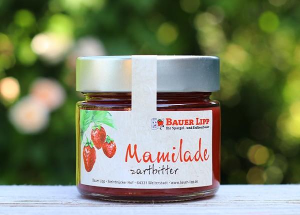 Erdbeer-Mamilade mit Zartbitterschokolade 210 g