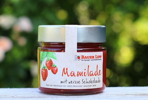 Erdbeer-Mamilade mit weisser Schokolade 210 g