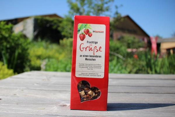 Fruchtige Grüße an einen besonderen Menschen, Erdbeer- Früchtetee Mischung 75 g