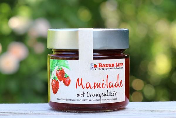 Erdbeere-Mamilade mit Orangenlikör 210 g