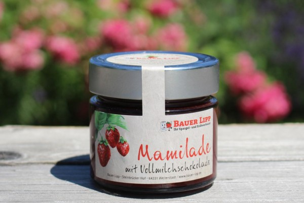 Mamilade, Erdbeere mit Vollmilchschokolade 210g