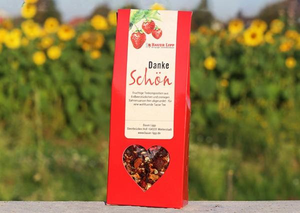 Danke schön, Erdbeer- Früchtetee Mischung 75 g
