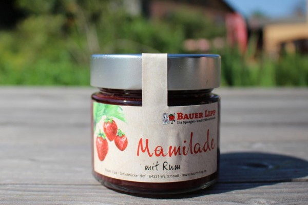 Mamilade, Erdbeere mit Rum 210g